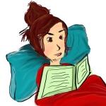 avatar Un livre devant la tête
