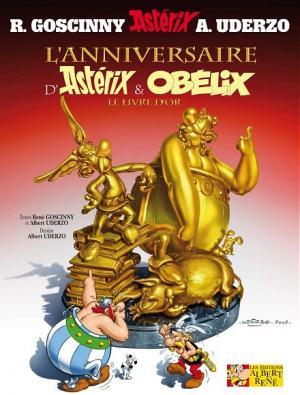 Couverture Astérix, tome 34 : L'anniversaire d'Astérix et Obélix