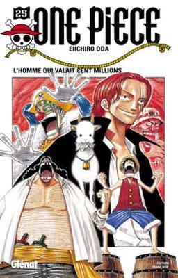 Couverture One Piece, tome 25 : L'homme qui valait cent millions
