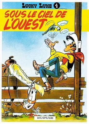 Couverture Lucky Luke, tome 04 : Sous le ciel de l'Ouest