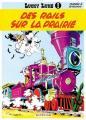 Couverture Lucky Luke, tome 09 : Des Rails sur la prairie Editions Dupuis 1957
