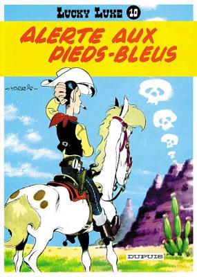Couverture Lucky Luke, tome 10 : Alerte aux Pieds-Bleus
