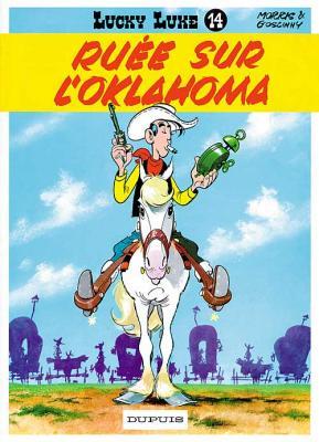Couverture Lucky Luke, tome 14 : Ruée sur l'Oklahoma