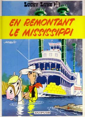 Couverture Lucky Luke, tome 16 : En remontant le Mississippi