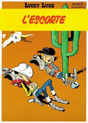 Couverture Lucky Luke, tome 28 : L'Escorte