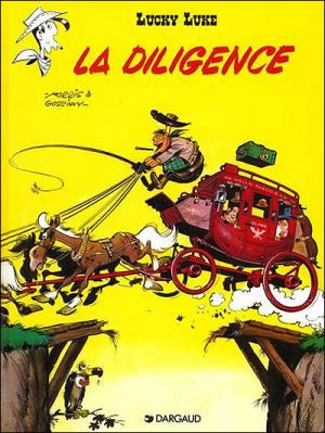 Couverture Lucky Luke, tome 32 : La Diligence