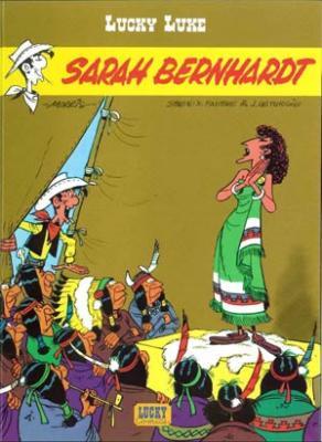 Couverture Lucky Luke, tome 50 : Sarah Bernhardt