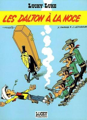 Couverture Lucky Luke, tome 62 : Les Dalton à la noce