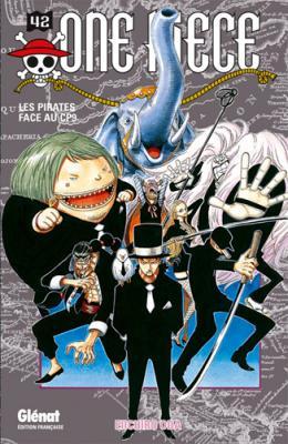 Couverture One Piece, tome 42 : Les pirates face au CP9