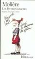 Couverture Les Femmes savantes Editions Folio  (Classique) 1999