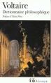 Couverture Dictionnaire philosophique Editions Folio  (Classique) 2009