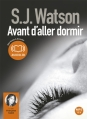 Couverture Avant d'aller dormir Editions Audiolib 2012