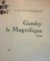 Couverture Gatsby le magnifique / Gatsby Editions Grasset 1974