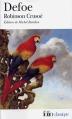 Couverture Robinson Crusoé Editions Folio  (Classique) 2011