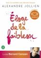 Couverture Eloge de la faiblesse Editions Audiolib 2012