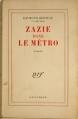 Couverture Zazie dans le métro Editions Gallimard  (Blanche) 1959