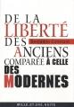 Couverture De la liberté des Anciens comparée à celle des Modernes Editions Mille et une nuits 2010