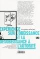 Couverture Expérience sur l'obéissance et la désobéissance à l'autorité Editions Zones 2013