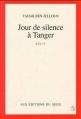 Couverture Jour de silence à Tanger Editions Seuil 1990