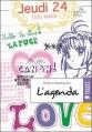 Couverture L'agenda Editions Rageot 2006