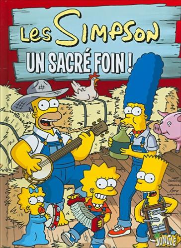 Couverture Les Simpson, tome 02 : Un sacré foin