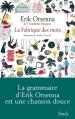 Couverture La fabrique des mots Editions Stock 2013