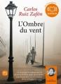Couverture L'ombre du vent Editions Audiolib 2012