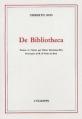 Couverture De Bibliotheca Editions L'échoppe 1986