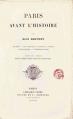 Couverture Paris avant l'histoire Editions Jouvet et Cie 1895