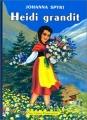 Couverture Heidi grandit Editions Flammarion (Père Castor) 1993