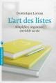 Couverture L'art des listes Editions Marabout (Poche) 2013