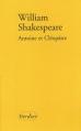 Couverture Antoine et Cléopâtre Editions Verdier 2003