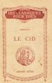 Couverture Le Cid Editions Hatier (Les Classiques pour tous) 1927