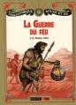 Couverture La guerre du feu Editions Nathan (Bibliothèque Rouge et or) 2012