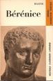 Couverture Bérénice Editions Larousse (Nouveaux classiques) 1971