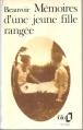 Couverture Mémoires d'une jeune fille rangée Editions Folio  1987