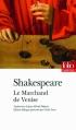 Couverture Le marchand de Venise Editions Folio  (Théâtre) 2011
