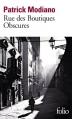 Couverture Rue des boutiques obscures Editions Folio  2015