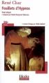 Couverture Feuillets d'Hypnos Editions Folio  (Plus classiques) 2007