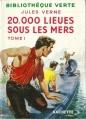 Couverture 20 000 lieues sous les mers / Vingt mille lieues sous les mers, tome 1 Editions Hachette (Bibliothèque Verte) 1952