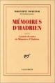 Couverture Mémoires d'Hadrien Editions Gallimard  (Blanche) 1974