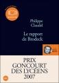 Couverture Le Rapport de Brodeck Editions Audiolib 2008