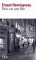 Couverture Paris est une fête Editions Folio  2012