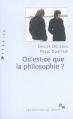 Couverture Qu'est-ce-que la philosophie ? Editions de Minuit 2011