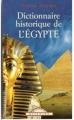 Couverture Dictionnaire historique de l'Egypte Editions Maxi Poche 2003