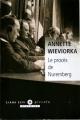 Couverture Le procès de Nuremberg Editions Liana Lévi (Piccolo) 2009