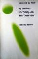 Couverture Chroniques martiennes Editions Denoël (Présence du futur) 1970