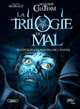 Couverture La trilogie du mal (BD), tome 2 : Écrit sur les portes de l'enfer