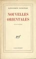 Couverture Nouvelles orientales Editions Gallimard  (Blanche) 1976