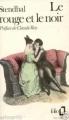 Couverture Le rouge et le noir Editions Folio  1973